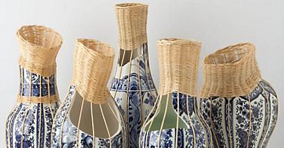 centerpiece delft blue ceramic vase