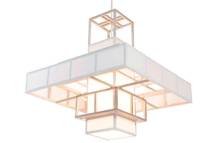 lighthouse pendant lamp material balsawood and oratex