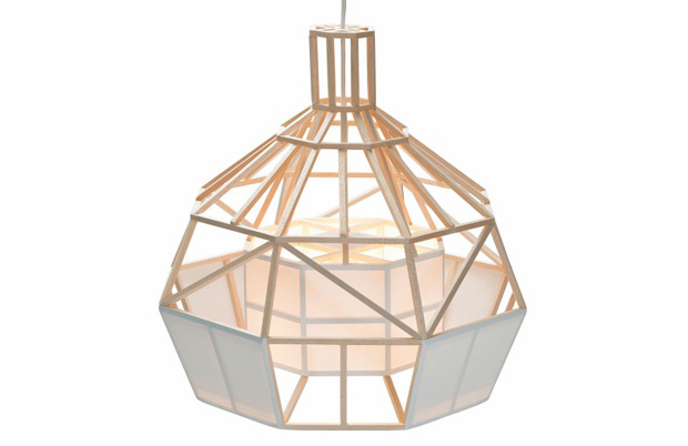 Satori small design pendant lamp from balsawood and oratex