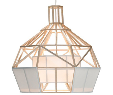 satori small pendant lamp material balsawood and oratex