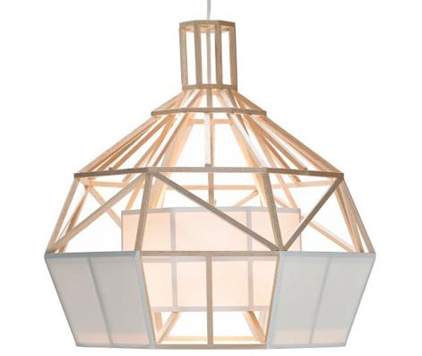 satori small pendant lamp material balsawood and oratex