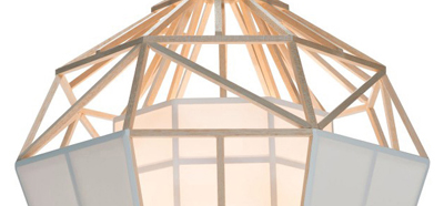 satori small pendant lamp from balsawood and oratex