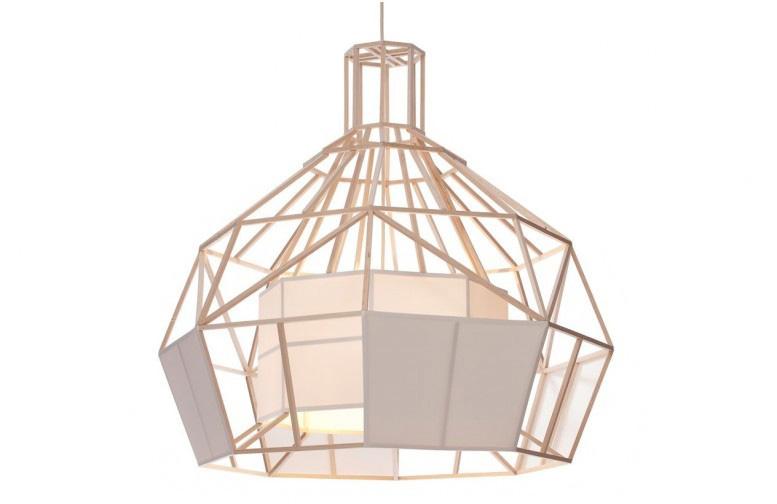 satori design pendant lamp from balsa wood and oratex